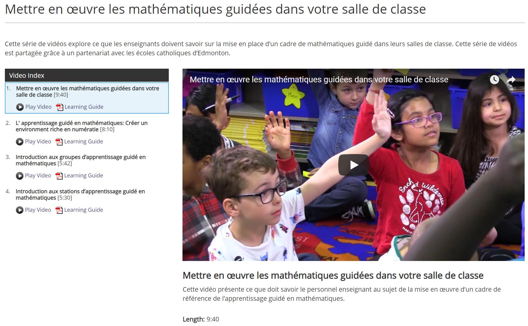 Mettre en œuvre les mathématiques guidées dans votre salle de classe