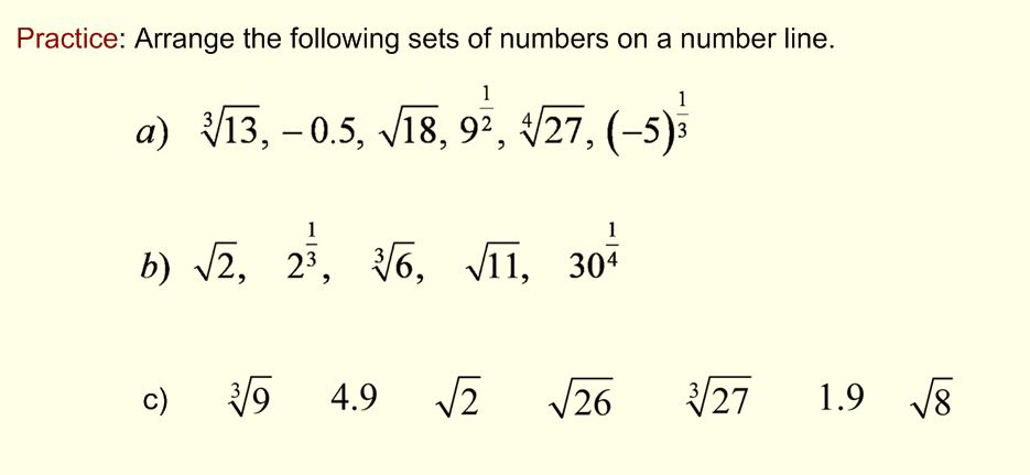 Number Line Example